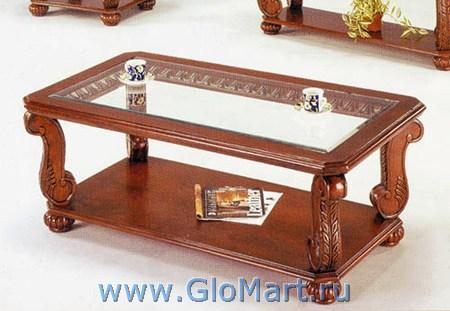 Журнальные столики, столы обеденные часто изготовливаются из стекла и дерева