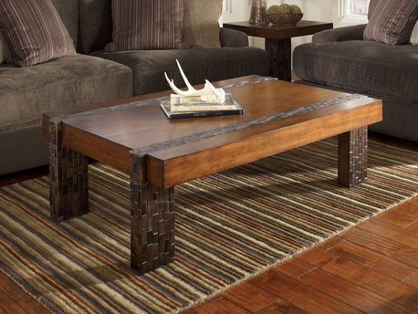 Необычные столы из дерева