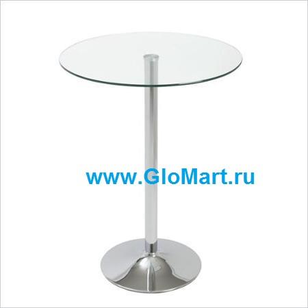 GloMart: Круглый стеклянный стол на