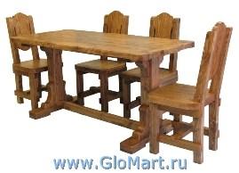 мебель из сосны, столы и стулья