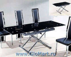 GloMart: Обеденный стеклянный стол