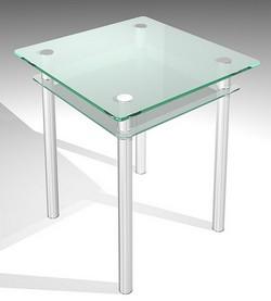 Стеклянные столы для кухни   диаметр 60