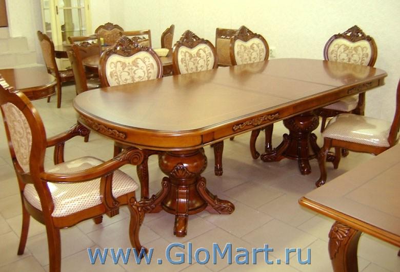 стол раздвижной для большой гостиной Ds 0211018 20002500х1100