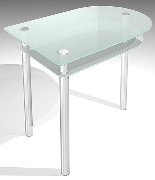 Стеклянный кухонный стол раскладной круглый модель 901