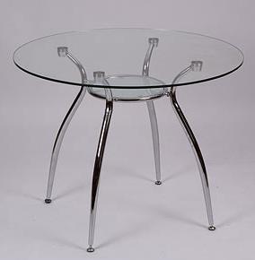 Стеклянный круглый стол икея. в Москве - изображение 1