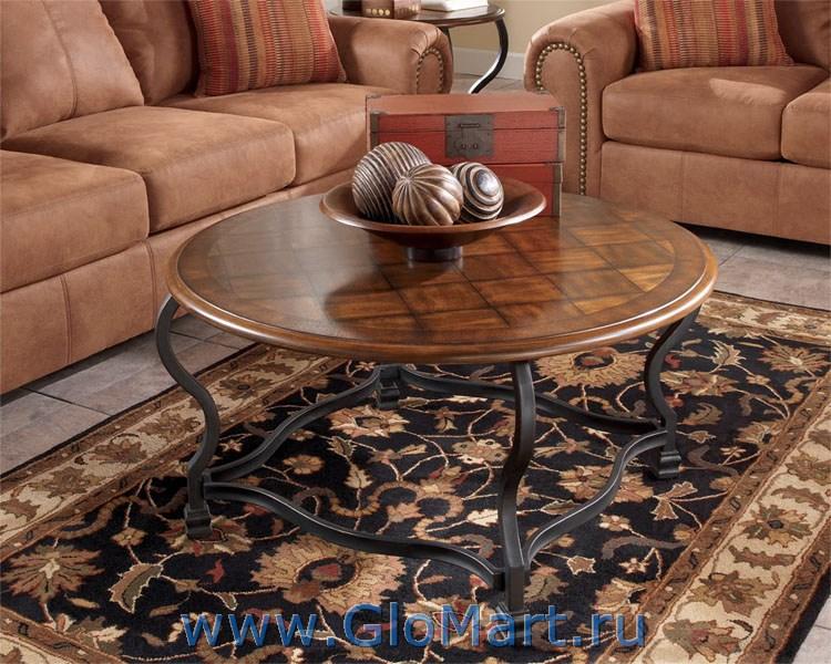 журнальный стол из дерева и металла Sl 1154t256 8 купить в