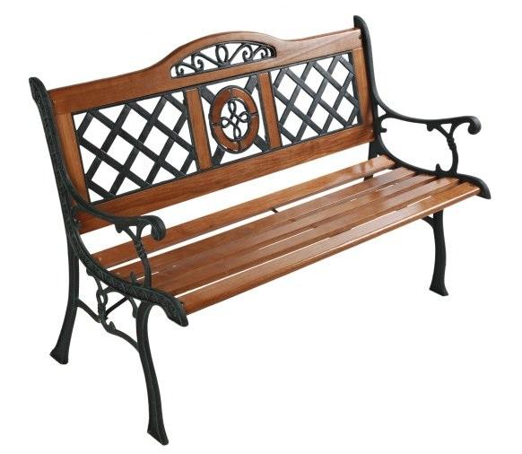 скамейка садовая из чугуна и дерева St 7759