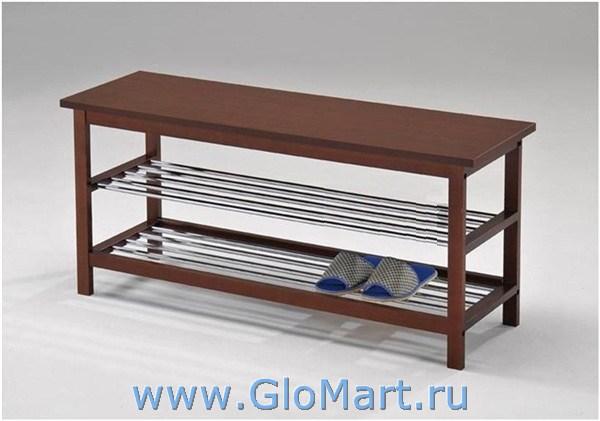 Скамейка с полкой для обуви