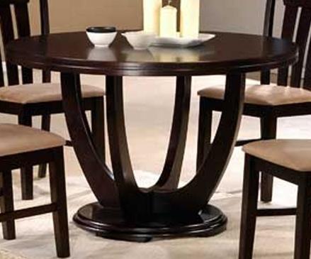 Стол из дерева круглый цвет венге