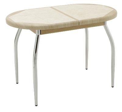 Стол круглый раздвижной столешница покрыта плиткой akrilika a-101 столешница