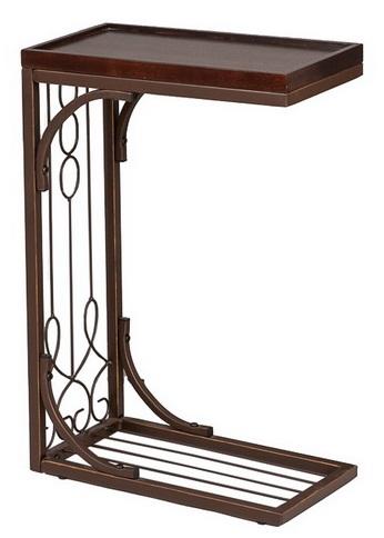 Столик приставной металлический с