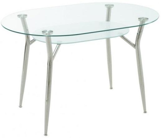 Овальный стеклянный стол на кухню
