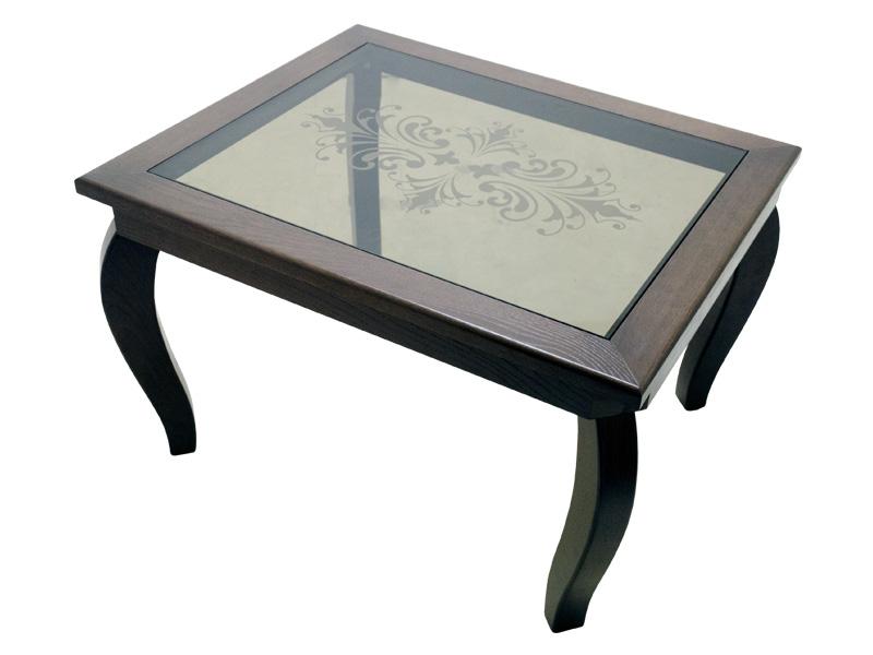 журнальный столик из стекла и дерева Ad 7018 купить в москве
