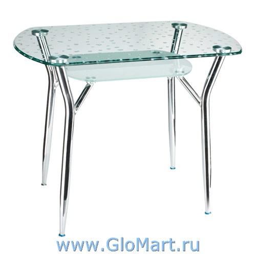 В продаже Стол стеклянный обеденный В-179-35, трансформер по лучшим ценам на сайте магазина мебели 5 Китов