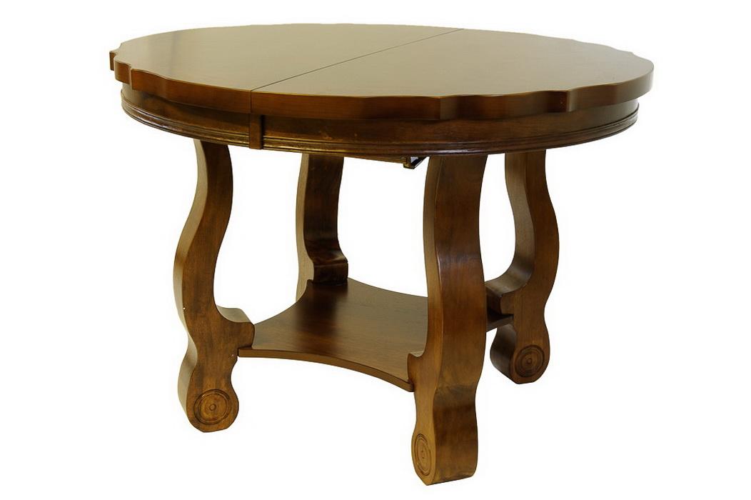 Стол деревянный обеденный круглый